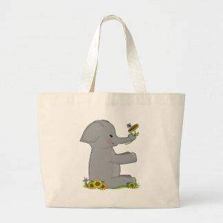 Animal Alphabet Elephant Large Tote Bag