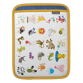 Animal Alphabet iPad Case Sleeves For iPads