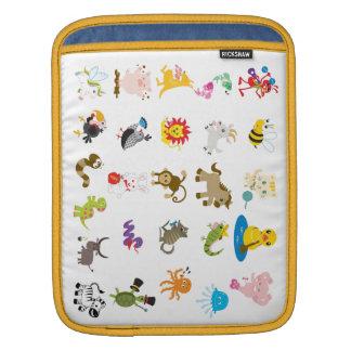 Animal Alphabet iPad Case Sleeves For iPads