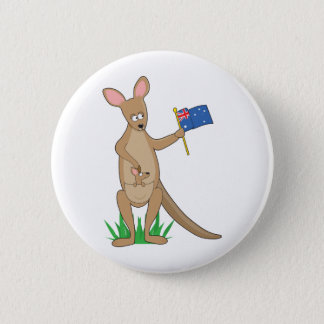 Animal Alphabet Kangaroo 6 Cm Round Badge