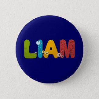 animal alphabet Liam 6 Cm Round Badge