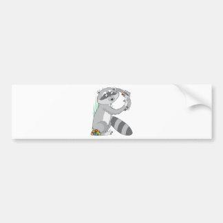 Animal Alphabet Raccoon Bumper Stickers