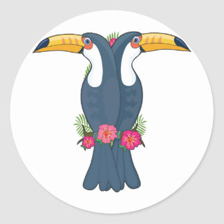 Animal Alphabet Toucan Classic Round Sticker