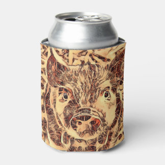 Animal ArtsStudio- amazing piglet Can Cooler