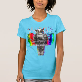 Animal Astronauts in Space Mission Specialist Cow T-Shirt