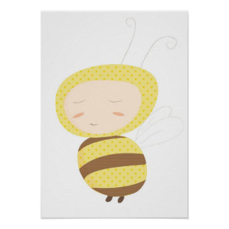 Animal Babies bumble bee print