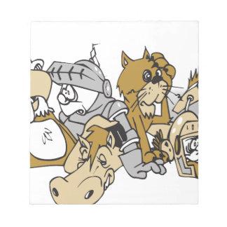 Animal battle notepad
