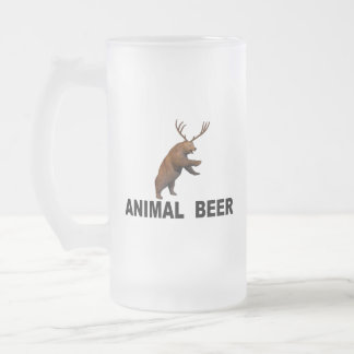 Animal Beer Frosted Glass Beer Mug