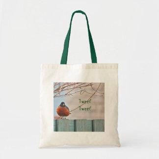 Animal Bird American Robin Budget Tote Bag