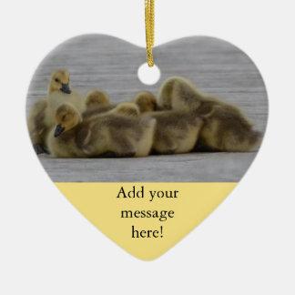 Animal Bird Canada Geese Ceramic Heart Decoration