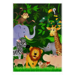 Animal cartoon poster