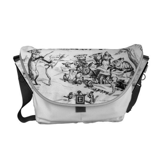 Animal Chorus by Pughe - Vintage Rickshaw Bag