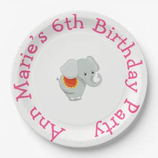 Animal Circus Train Kids Birthday in Pink Paper Plate