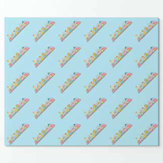 Animal Circus Train Kids Birthday in Pink Wrapping Paper