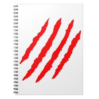 Animal Claw Marks Notebook
