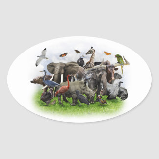 Animal Collage Stickers