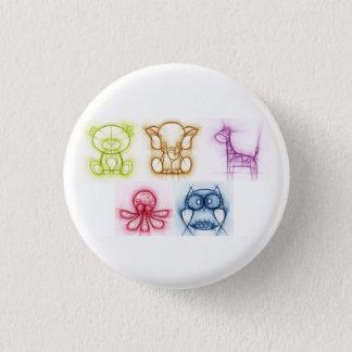 Animal Colors 3 Cm Round Badge