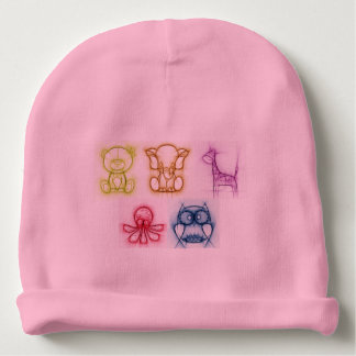 Animal Colors Baby Beanie