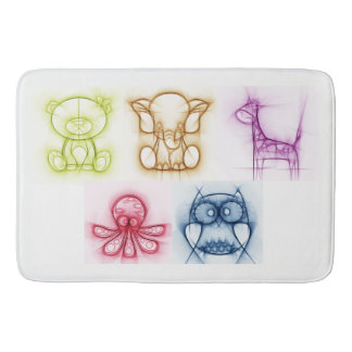 Animal Colors Bath Mats
