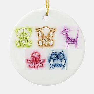 Animal Colors Christmas Ornament