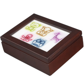 Animal Colors Keepsake Box