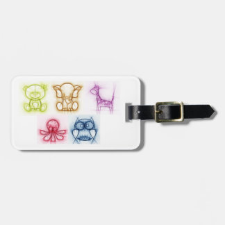 Animal Colors Luggage Tag