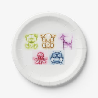 Animal Colors Paper Plate