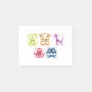 Animal Colors Post-it Notes