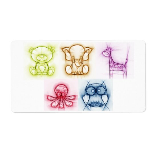 Animal Colours Shipping Label