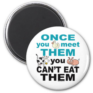 Animal Compassion 6 Cm Round Magnet