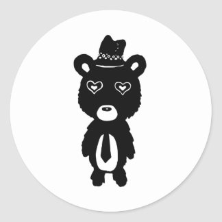 Animal Costume Classic Round Sticker