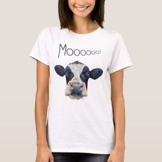 Animal Cow Face Women's Basic Dark T-Shirt