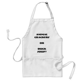 """""""Animal Crackers or Duck Soup?"""" Apron"""