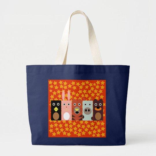 Animal Domain: My best friends Large Tote Bag
