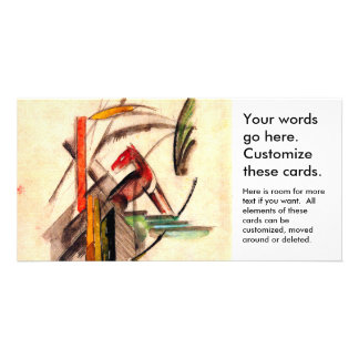 Animal drawing by Franz Marc Expressionist painter Customized Photo Card