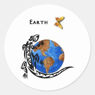 Animal Earth Round Sticker