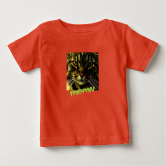 Animal Face Hypnotizing Cat Eyes Baby T-Shirt