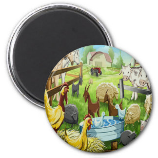 Animal Farm 6 Cm Round Magnet