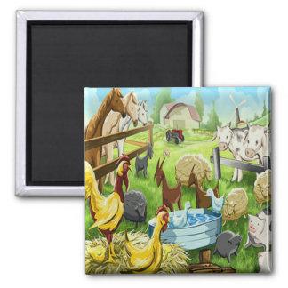 Animal Farm Square Magnet