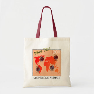 Animal First Tote Bags