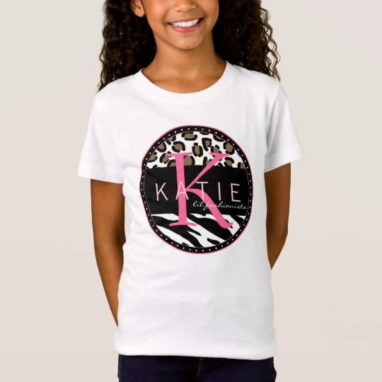 Animal Frenzy Personalised Girls T-shirt