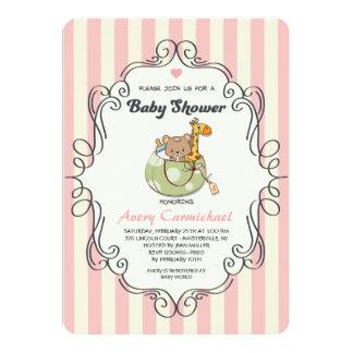Animal Friends Baby Shower Invitation