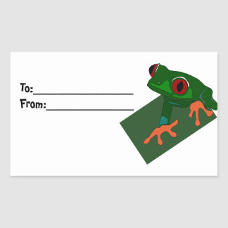 Animal Frog Green Gift Tags Teacher Destiny Rectangle Stickers