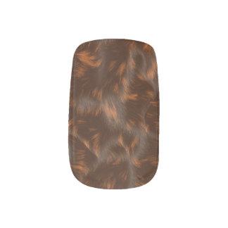 Animal fur effect design minx nail art