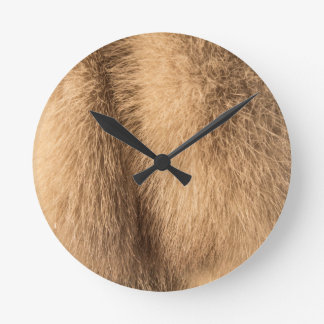 animal fur round clock