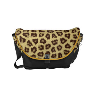 Animal fur spots pattern messenger bags