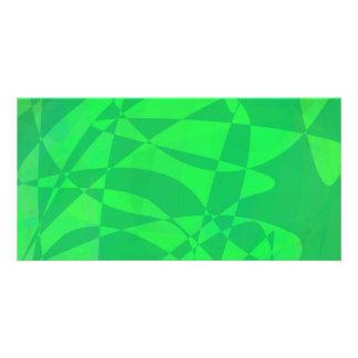 Animal Green Customized Photo Card