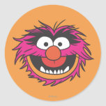 Animal Head Round Stickers