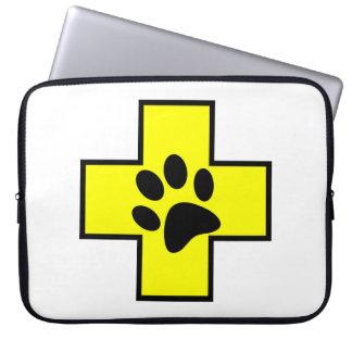 animal help cross veterinary symbol sign doctor pe laptop sleeve