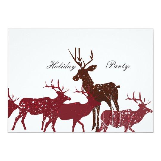 Animal Holiday Snow Card